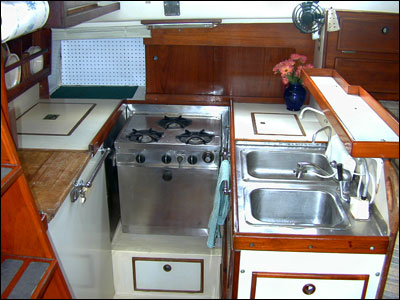 Refit your galley learn from the experience of 12 cruising women Ship galley kitchen design